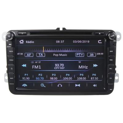 """Autorádio pro VW, Škoda s 8"""" LCD, GPS, multicolor, ČESKÉ MENU"""