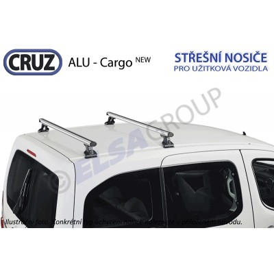 Střešní nosič Citroen Berlingo / Peugeot Partner, CRUZ ALU Cargo 924071+934301