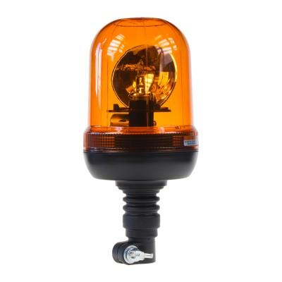 Halogen maják, 12 i 24V oranžový na držák, ECE R65