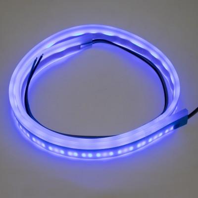 LED silikonový extra plochý pásek modrý 12 V, 60 cm