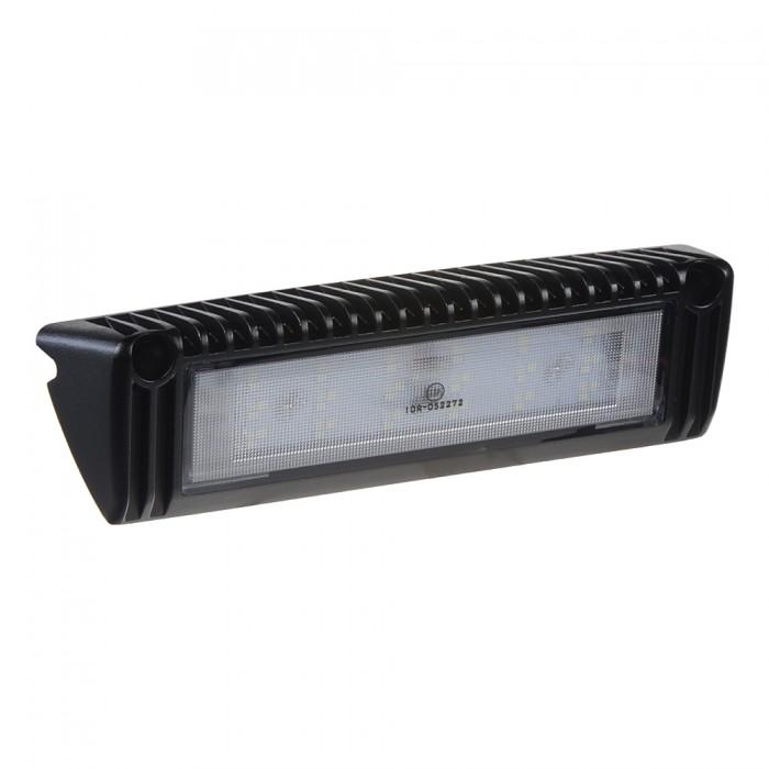 LED světlo nástěnné, 10-30V, 18x1W, černé, 229x60x43mm