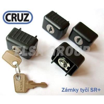 Sada zámků CRUZ 4ks pro tyče ST / SR+
