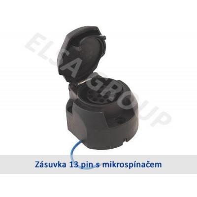 Zásuvka 13pin (DIN) s mikrospínačem+podložka