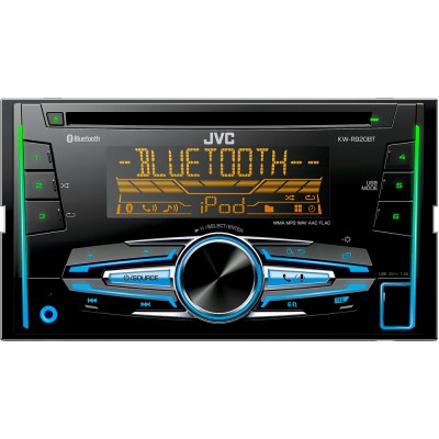 JVC 2DIN autorádio s CD/USB/AUX/Multicolor/bluetooth