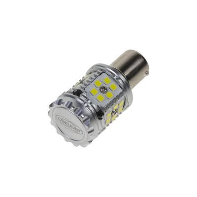LED BA15s bílá, CAN-BUS, 12-24V, 30LED/3030SMD