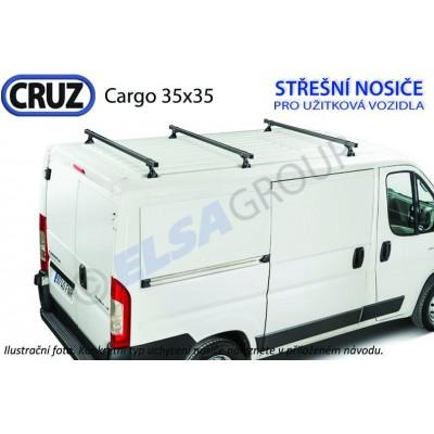 Střešní nosič Ford Transit Custom / Tourneo Custom 35x35 (3 příčníky), CRUZ