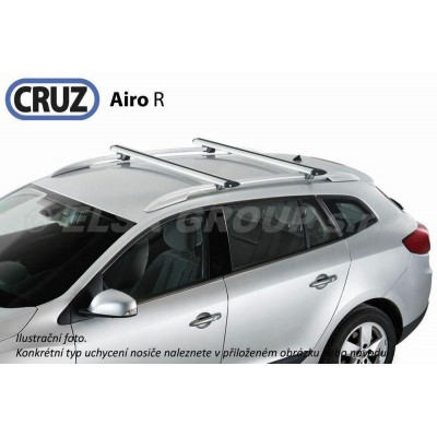 Střešní nosič Chevrolet Matiz / Spark (M200) s podélníky, CRUZ Airo ALU