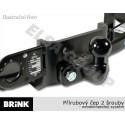 Tažné zařízení VW Crafter valník 3,0t / 3,5t (3,8t) (SWB) 06-16, příruba, BRINK B511200