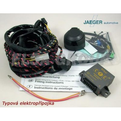 Typová elektropřípojka VW Passat sedan 2005-2010 (B6), 13pin, Jaeger Automotive