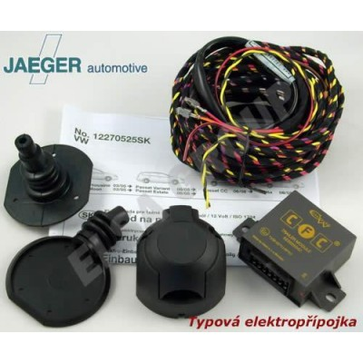 Typová elektropřípojka VW Passat sedan 2005-2010 (B6), 7pin, Jaeger Automotive