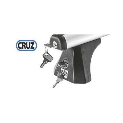 Sada zámků CRUZ 4ks pro tyče ALU (45x30, profil NT8/3, krytky 012-162) + 4ks zámků pro kit