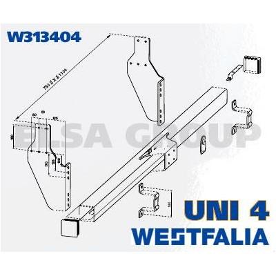 Zábrana podjezdu pro tažné zařízení UNI 4 (LU-1)