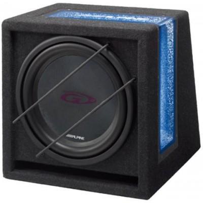 ALPINE Subwoofer instalovaný v boxu s bassreflexovou ozvučnicí SBG-1244BR