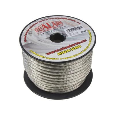 Kabel 10 mm, stříbrně transparentní, 25 m bal