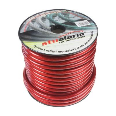 Kabel 20 mm, červeně transparentní, 25 m bal
