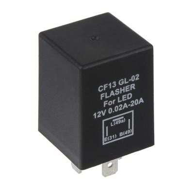 Přerušovač blinkrů LED, 12V,0,02-20A pro evropské vozy