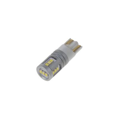 LED T10 bílá, 12/24V, 15LED/1W SMD