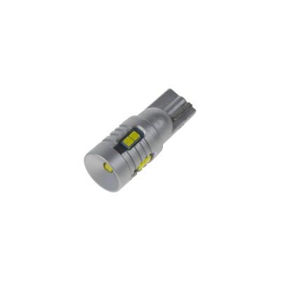 LED T10 bílá, 12/24V, 9LED/3W SMD