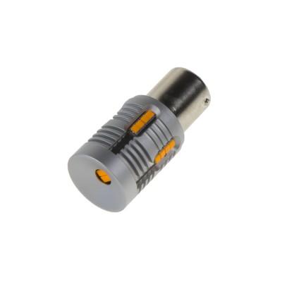 LED BAU15s oranžová, 12-24V, 24LED/1W