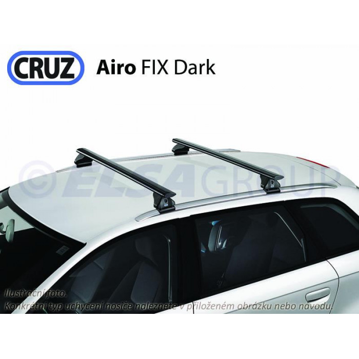 Střešní nosič Toyota Corolla Touring Sports 18-, CRUZ Airo FIX Dark TO936590+925711