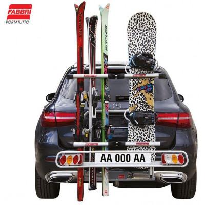 Nosič lyží Fabbri Exclusiv Ski & Board Deluxe - 6 párů lyží, na tažné zařízení 6201960