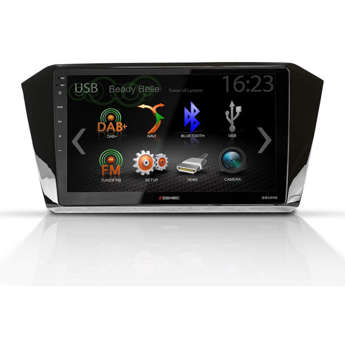 ZENEC Z-E1010 + Z-F2011 – multimediální rádio VW PASSAT B8