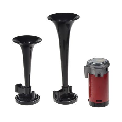 2-tónová fanfára 220mm, 12V s kompresorem černá ECE R28