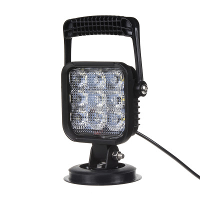 LED světlo s magnetem 12V, 9x1W, 170x105x80mm, ECE R10