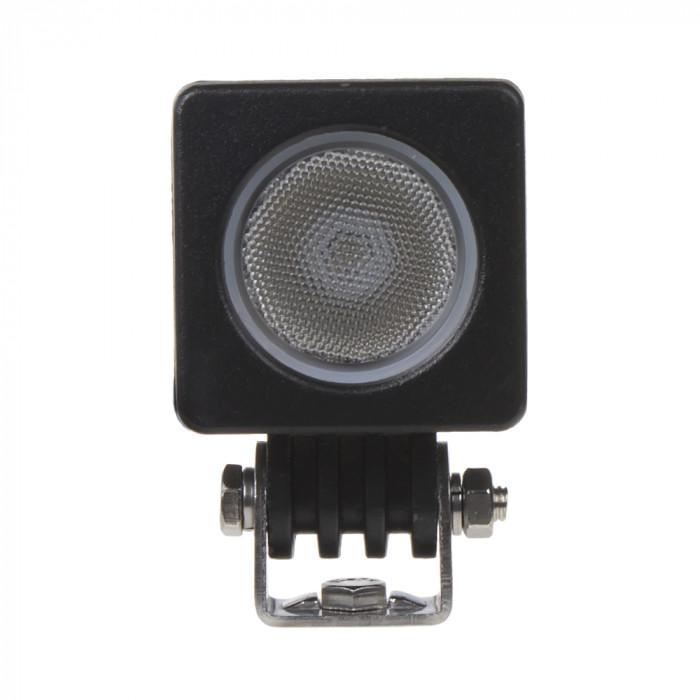 LED světlo hranaté (na motocykl), 1x 10W, 50x50x65mm, ECE R10