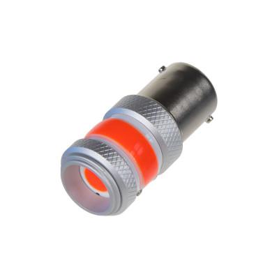 LED BA15s červená, COB 360⁰, 9-60V, 12W