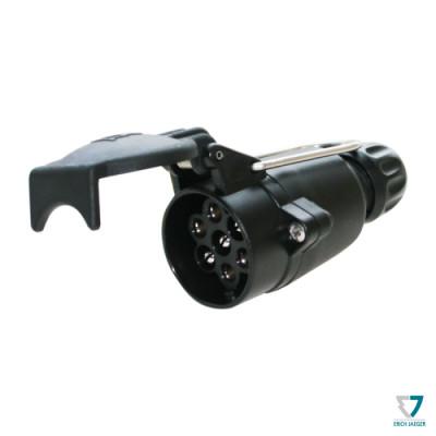 Zásuvka 7pin (DIN) IP44 k připojení na kabel, Erich Jaeger 301006