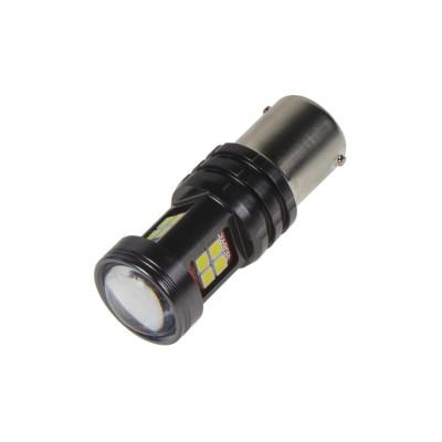 LED BA15s bílá, 12-24V, 15LED/2835SMD