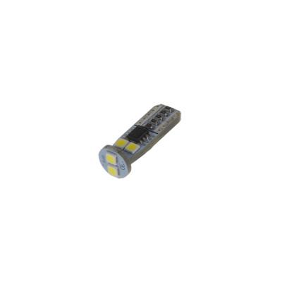 LED T10 bílá, 12V, 6LED/3030SMD
