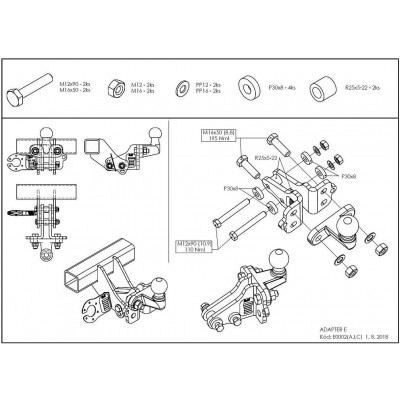 Adaptér z pevného (I) /bajonetového (C) systému na přírubový čep - pro GC0455 E0002