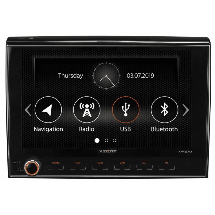 XZENT X-F270 multimediální rádio s GPS Fiat Ducato Citroen Peugeot Caravan