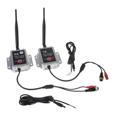 Sada přijímač/vysílač pro digitální bezdrátový VIDEO přenos, AHD, 4xPIN konektory