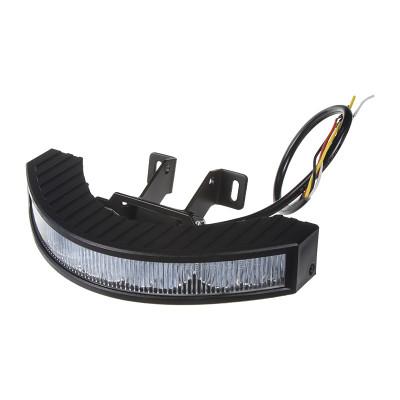 Výstražné LED světlo vnější, 12-24V, 12x3W, červené, ECE R65