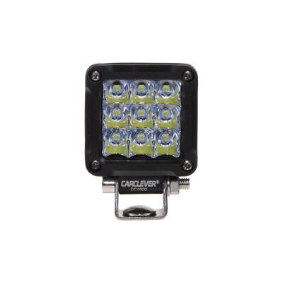 LED světlo mini čtvercové, 9x1,3W, 50,8x50,8mm, ECE R10