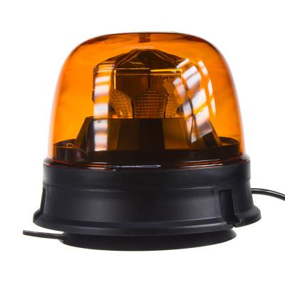 LED maják, 12-24V,  10x1,8W, oranžový, magnet, ECE R65 R10