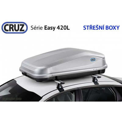 Střešní box CRUZ EASY 420GM, matná šedá 940345U