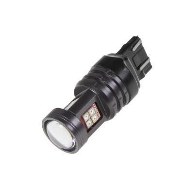 LED T20 (7443) oranžová, 12-24V, 15LED/2835SMD