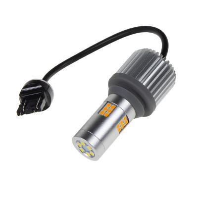 LED T20 (7443) bílá/oranžová, CAN-BUS, 12V, 30LED/3030SMD