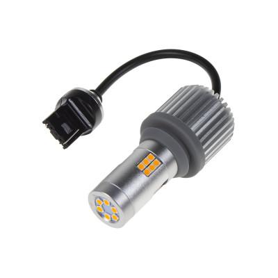 LED T20 (7440) oranžová, CAN-BUS, 12-24V, 30LED/3030SMD