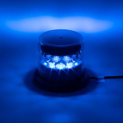 PROFI LED maják 12-24V 24x3W modrý čirý133x86mm, ECE R65