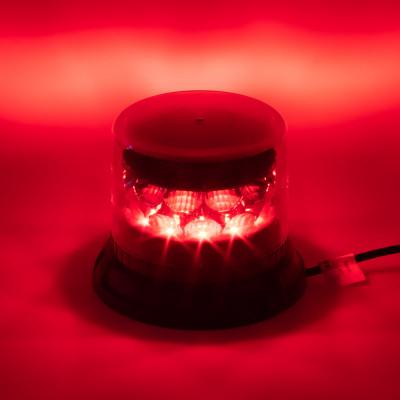PROFI LED maják 12-24V 24x3W červený čirý133x86mm, ECE R65