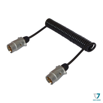 Propojovací kabel 7-7pin M-M, max 4,5m, kov 601040