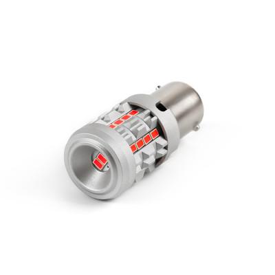 LED BA15S červená, 12V, CAN-BUS, 26LED/3020SMD