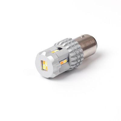 LED BAY15D bílá/oranžová, 12V, 12LED/3020SMD