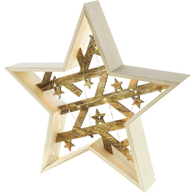 RETLUX RXL 312 hvězda dřevěná 20LED WW