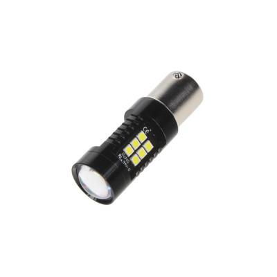LED BA15s bílá, 12V, 21LED/2835SMD